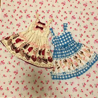 Shirley Temple - ケーキ & アイス 100 ジャンパースカート 2点セット