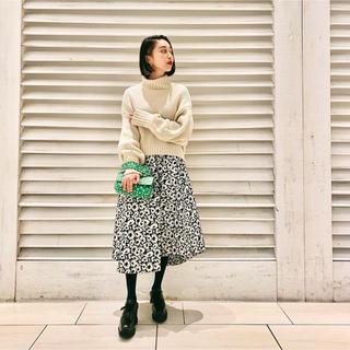 LE CIEL BLEU - LECIELBLEU ルシェルブルー ロング ひざ丈 ジャガード スカート