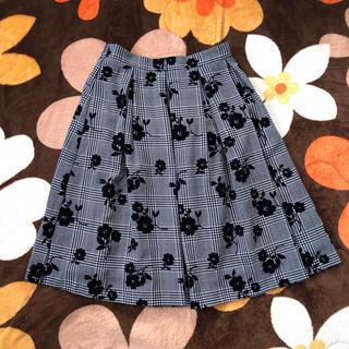 ハニーズ(HONEYS)のハニーズ スカート 花柄 チェック(ひざ丈スカート)