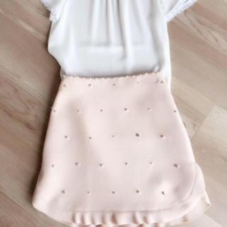 miumiu - miumiu ミュウミュウ ビジュー パール スカート 38 美品