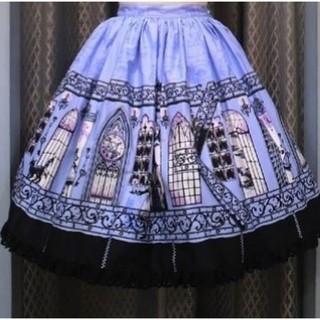アリスアンドザパイレーツ(ALICE and the PIRATES)のアリスと時計塔の秘密柄スカート(ひざ丈スカート)
