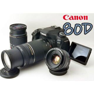 Canon - ✨キャノン EOS 80D+単焦点&超望遠300mm&標準レンズ