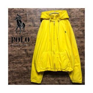 POLO RALPH LAUREN - ポロラルフローレン 刺繍 ナイロンジャケット 内フリース ビッグシルエット XL