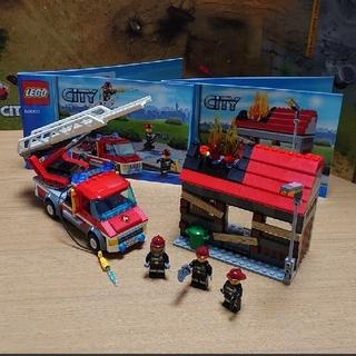 Lego - 【LEGO】レゴシティ ファイヤートラックとハウス 60003