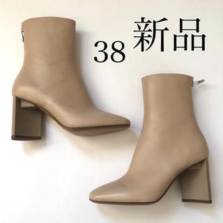 マルタンマルジェラ(Maison Martin Margiela)の新 品 /38 メゾン マルジェラ バックジップ ブーツ ライトベージュ(ブーツ)