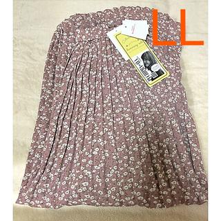 しまむら - プチプラのあや ハミングローブ 小花柄 シフォン プリーツ スカート