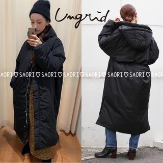 Ungrid - ungrid【新品タグ付】スリットボリュームロングダウン BLK