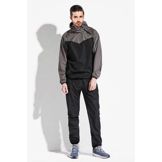 新品 サウナスーツ グレー XLサイズ メンズ 上下セット ジョギング(トレーニング用品)
