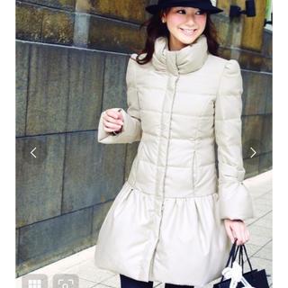 クチュールブローチ(Couture Brooch)の新品 未使用 RUIRUE BOUTIQUE リボンクチュールドレスダウンコート(ダウンコート)