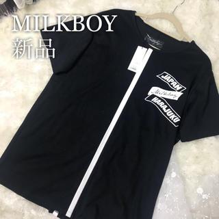 ミルクボーイ(MILKBOY)のMILK BOY 新品タグ付き HARAJUKU TEE Tシャツ ブラック(Tシャツ(半袖/袖なし))