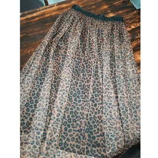 しまむら - しまむら レオパード柄 チュールスカート