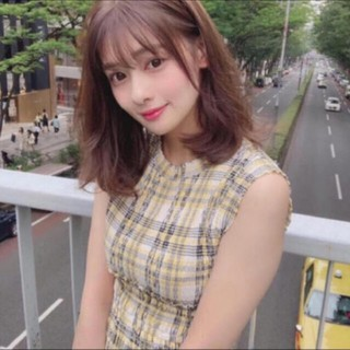 snidel - snidel♡チェック シャーリング ロング ワンピース