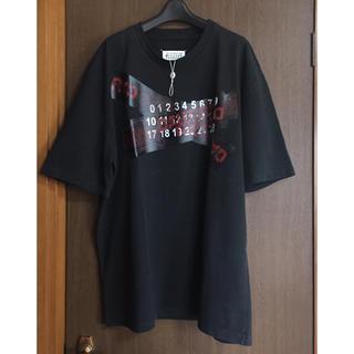 マルタンマルジェラ(Maison Martin Margiela)の19AW新品 メゾンマルジェラ オーバーサイズ Tシャツ ブラック 今期(Tシャツ/カットソー(半袖/袖なし))