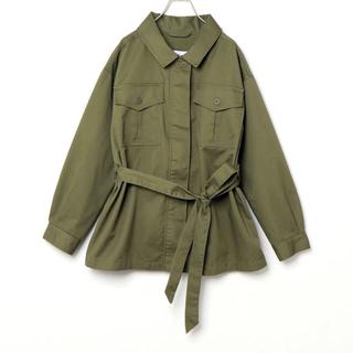 イッカ(ikka)のミリタリージャケット(ミリタリージャケット)