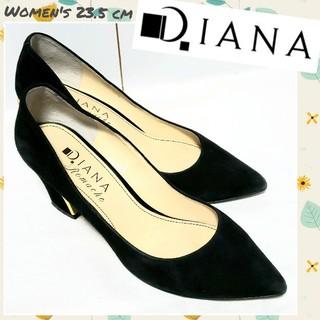 DIANA - ♡DIANA♡スエードパンプス 黒金 レディース23.5cm