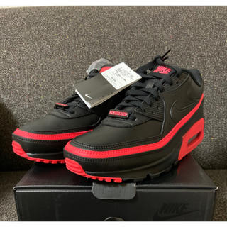 NIKE - 新品 27.5cm NIKE AIR MAX 90 UNDEFEATED 黒赤