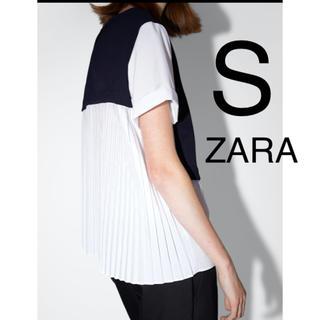 ZARA - ZARA ザラ プリーツ入り コントラストトップス