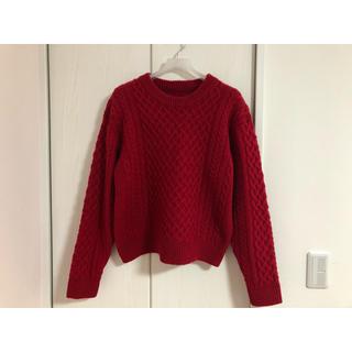 ビューティアンドユースユナイテッドアローズ(BEAUTY&YOUTH UNITED ARROWS)の赤ニット(ニット/セーター)