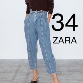 ZARA - ZARA ザラ デニム ベルト付きスラウチーフィットデニム