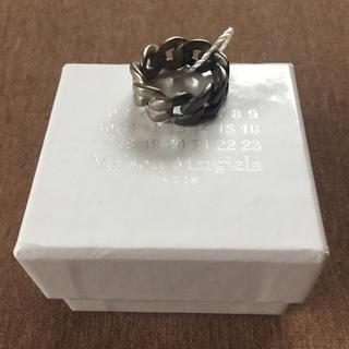 Maison Martin Margiela - 19AW新品S メゾンマルジェラ チェーンリング シルバー ブラック 指輪 今期