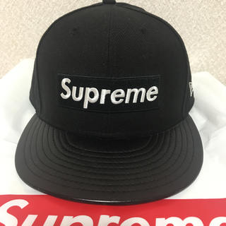Supreme - Supreme Leather Visor New Era cap ブラック