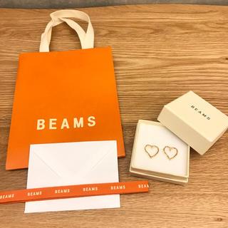 BEAMS - sale BEAMS 新品未使用 ゴールドハートピアス