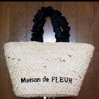 メゾンドフルール(Maison de FLEUR)のメゾンドフルール かごバッグ カゴバッグ フリル(かごバッグ/ストローバッグ)
