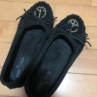ミネトンカ(Minnetonka)のミネトンカ 革靴 黒 26cm(ハイヒール/パンプス)