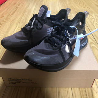 OFF-WHITE - NIKE x off-white zoom fly  SP 黒27.5cm