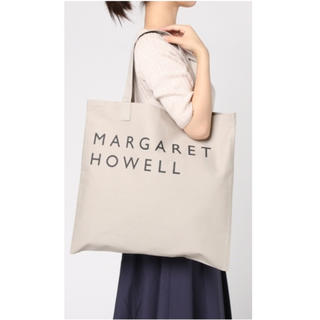 マーガレットハウエル(MARGARET HOWELL)の新品未使用 MHL. COTTON CANVAS LOGO BAG グレー(トートバッグ)