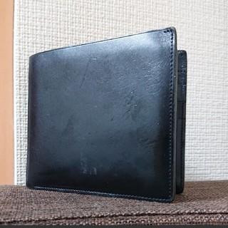 ムジルシリョウヒン(MUJI (無印良品))の【使用感あり】無印良品 MUJI 二つ折り財布 メンズ  ブラック (折り財布)