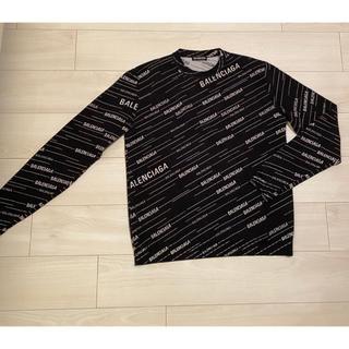 Balenciaga - バレンシアガ トップス ニット セーター ロゴ メンズ レディース ブラック