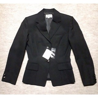 新品 13号オフィスジャケット ブラック 事務服(テーラードジャケット)