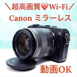 Canon - 極上美品❤スマホ転送❣Canon キャノン EOS M ミラーレス 黒