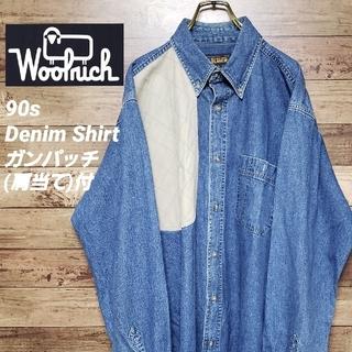 ウールリッチ(WOOLRICH)の《希少》ウールリッチ 90s ハンティングシャツ ビッグサイズ ガンパッチ付(シャツ)
