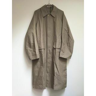 ヤエカ(YAECA)のAURALEE   FINX WEATHER CLOTH CHECK COAT(ステンカラーコート)