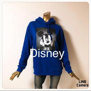 Disney - ☘T1329☘Dickies ミッキー ボックスロゴ パーカー L