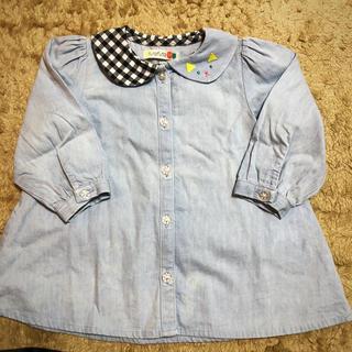 フタフタ(futafuta)のfuta futa 女児 変わり襟☆ブラウス 95cm(Tシャツ/カットソー)