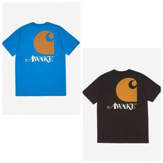 アウェイク(AWAKE)の【入手困難】Awake Ny X Carhartt Tシャツ ブルー  黒 (Tシャツ/カットソー(半袖/袖なし))