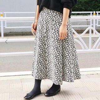 IENA - 【IENA】フラワージャガードフレアスカート 38サイズ