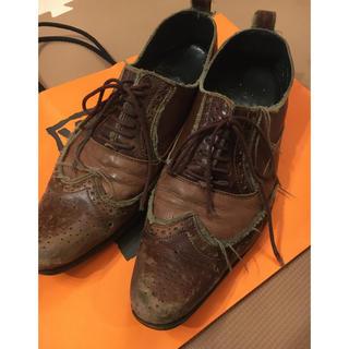 アルフレッドバニスター(alfredoBANNISTER)のアルフレッドバニスター ほつれ革靴(ローファー/革靴)
