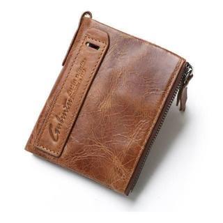■GUBINTU■ 本革小銭入れ付き二つ折り財布