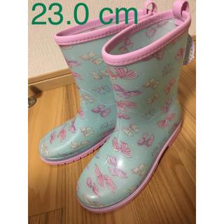 motherways - マザウェイズ 長靴  レインブーツ 23cm リボン ミント グリーン