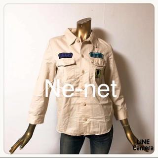 ネネット(Ne-net)の☘T1400☘Ne-net ミリタリー風 ワッペン シャツ 2(シャツ/ブラウス(長袖/七分))