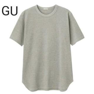ジーユー(GU)のGU ワッフル クルーネック Tシャツ 半袖 L(Tシャツ/カットソー(半袖/袖なし))