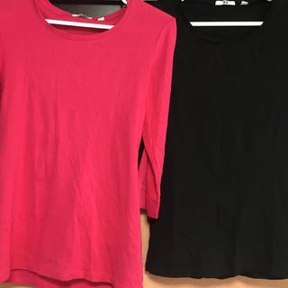 ユニクロ(UNIQLO)のユニクロ UNIQLO 7分丈 Tシャツ 美品(Tシャツ(長袖/七分))