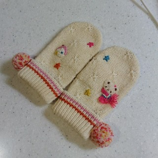familiar - ファミリア ミトン  手袋 女の子