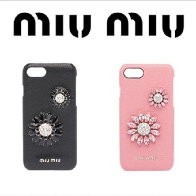 miumiu - miumiu ビジューiPhoneケースの通販