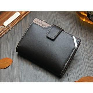 【新品】ヴィンテージ多機能折り畳み財布(ブラウン)レザー素材