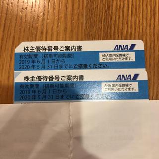 エーエヌエー(ゼンニッポンクウユ)(ANA(全日本空輸))のANA株主優待券 2枚 値下げ(その他)
